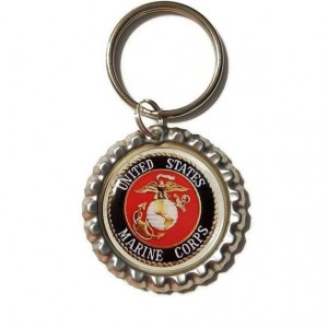 United States Marine Corps Bottle Cap Keychain, Back The Blue, Police Support, Thin Blue Line, Police officer wife