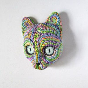 Cosmic Cat Wall Sculpture Original