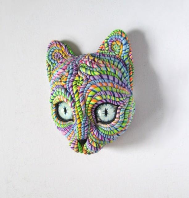 Cosmic Cat Wall Sculpture Original