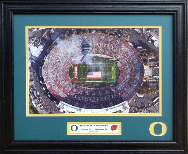 Oregon Ducks 2020 Rose Bowl Champions Custom Framed Picture