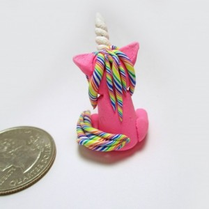 Custom Unicorn Necklace, Rainbow Lollipop Unicorn necklace, Kawaii Unicorn Necklace, Unicorn Chibi Necklace, Unicorn Horn Necklace, Clay