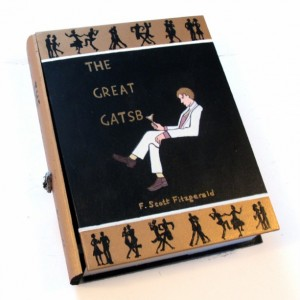 The Great Gatsby 2.0 book hideaway box. Unique & hand decorated.