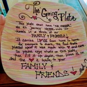 """The Giving Plate"" Colorful"