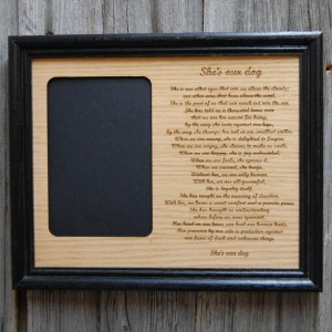 8x10 My Dog Picture Frame - Memorial