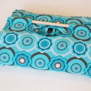 Geometric Floral Turquoise 9x13 Dish Tote