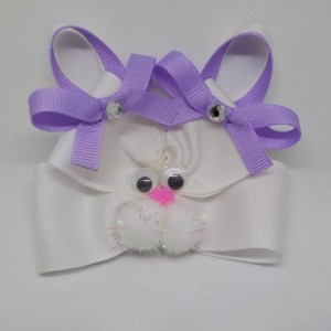 "Easter Bunny Hair Bow-4.5"" Easter Bunny Headband"