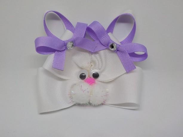 """Easter Bunny Hair Bow-4.5"""" Easter Bunny Headband"""