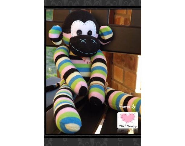 Sock monkey: Ricky ~ The original handmade plush animal made by Chiki Monkeys!