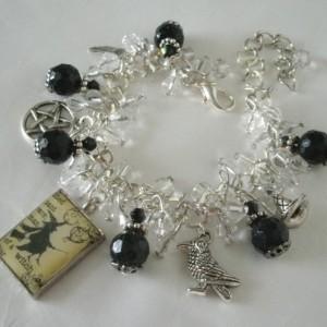 Raven Pentacle Charm Bracelet