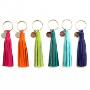 "3"" Leather Tassel Key Chain   Small Leather Tassel Keychain   Tassel Purse Charm   Key Tassel   Purse Tassel   Grad Gift   Tassle Keychain"