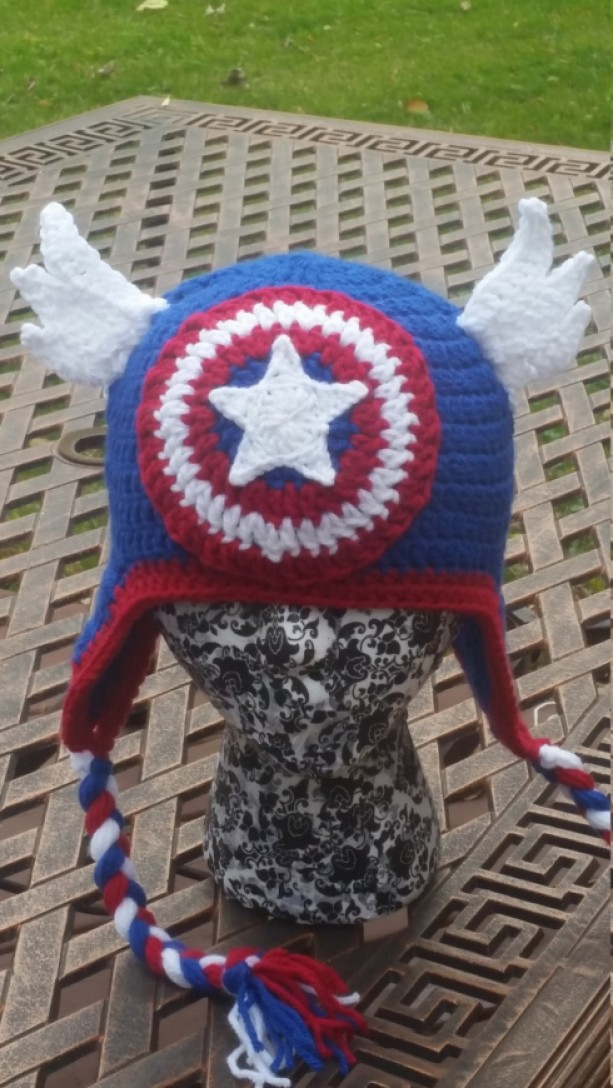 Captain America  Crochet Hat