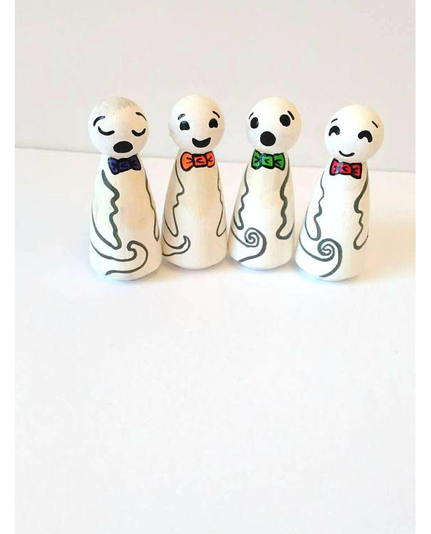 Halloween ghost dolls - Ghosts - Halloween toy - Halloween decor - Cute ghost doll - Halloween gift - Halloween party favors - peg dolls