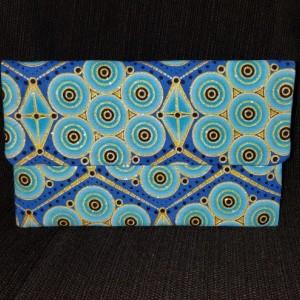 Clutch Wallet - Ornate Blue