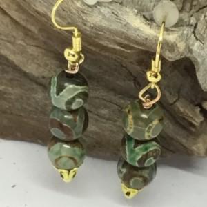 Healing  crystal bracelet, Healing bracelet, Healing earrings, Green bracelet, Green earrings, Beautiful set for her