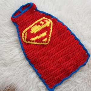 0-3 month Crochet Superman Cape and Hat~Handmade Crochet Super Hero Cape and Hat~Super Hero Cape Photo Prop~Photography Prop