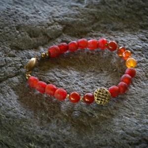 African jewelry, Tribal bracelet, African beaded bracelet, Ethnic bracelet, African recycled  glass bracelet, beaded bracelet,  gift for her