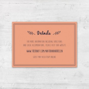 Navy and Coral Invites, Whimsical Invites, Preppy Wedding Invite Set, Elegant Wedding Invitation, Modern Wedding Invites, DIY Printables
