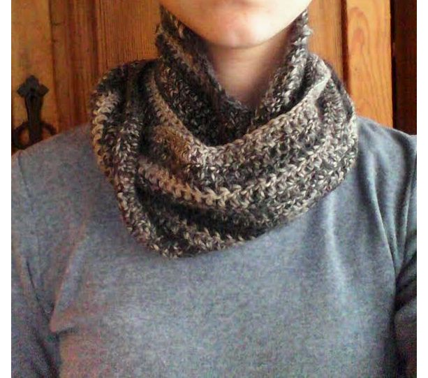 Grey Mix Infinity Scarf