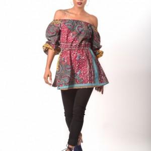 Rana Off The Shoulder Peplum Top Women's Top Boho Style Top Printed Top Cotton Peplum Top Summer Fashion Women's Fashion Top