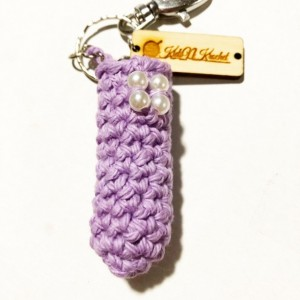 Chap stick key chain / lip balm cover / with claw clip