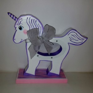 UNICORN WOODEN MONEY BANK