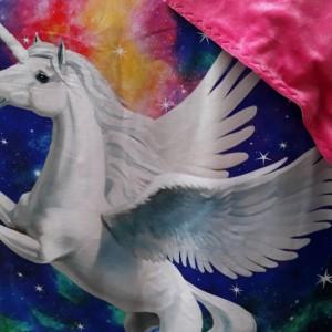 """Unicorn blanket...gift for girl-snuggle blanket-unicorn/minky blanket-48""""×55"""""""