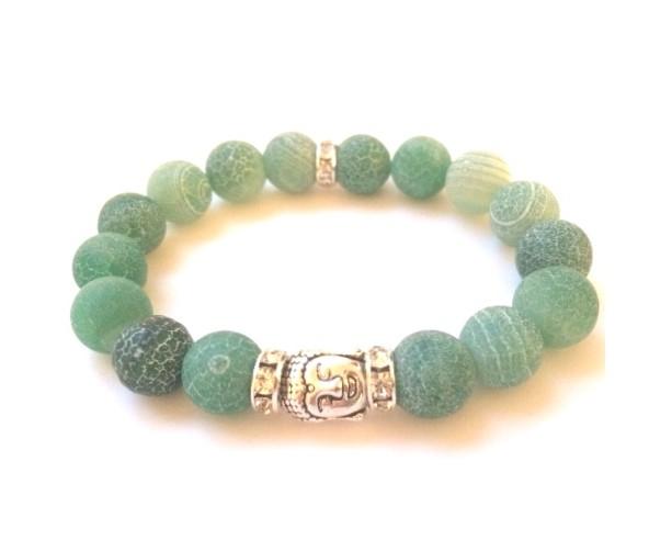 Agate Buddha Bracelet
