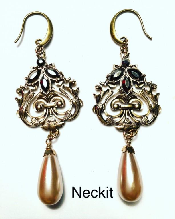 Pearl Drop Chandelier Earrings