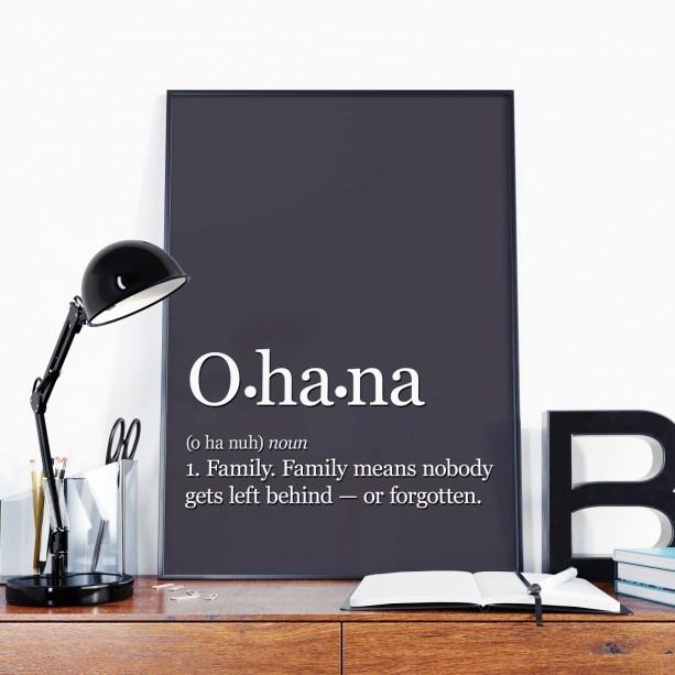 Ohana Means Family 8x10 Art Print