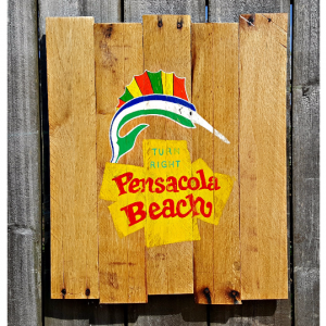 Handmade Reclaimed Pallet Wood Pensacola Beach Sign