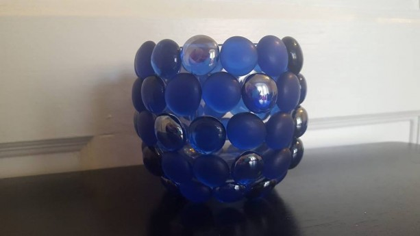 Glass Bead Candle Holder- Pair (2)