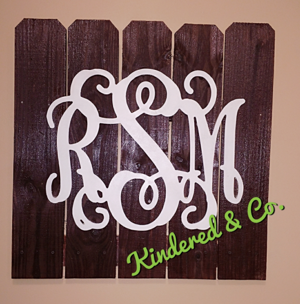 Rustic Pallet Monogram Wall Decor