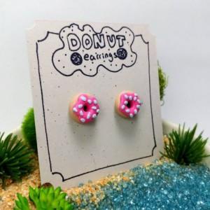 Donut Earrings - Kid Friendly Earrings - Foodie Earrings - Hypoallergenic Posts
