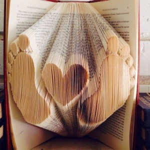 Baby Love Book Origami - Custom Baby Heart Book Art - Baby Gift