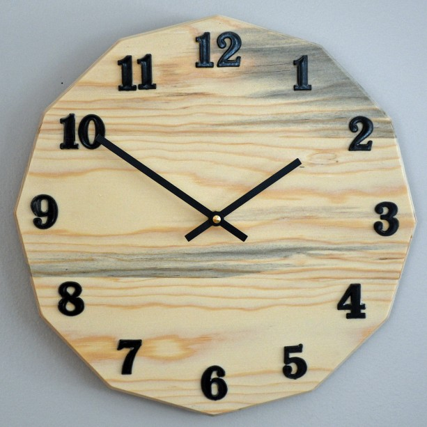 "Beautiful 12"" Blue Pine Clock"