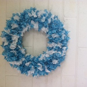 Turquoise Front Door Wreath, Spring Wreath, Door Wreath, Front Door Wreath