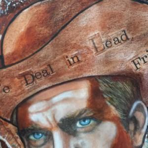 Steve McQueen Original Mixed Media Painting on Paper