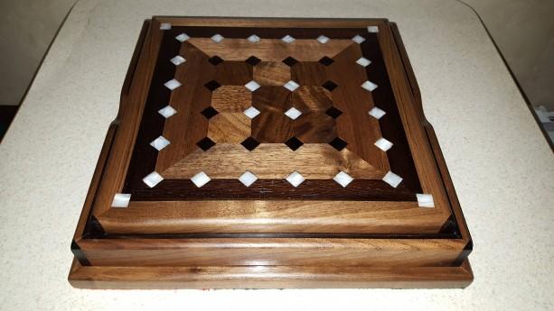 Tak box set made from black walnut, wenge,ebony,and acrylic