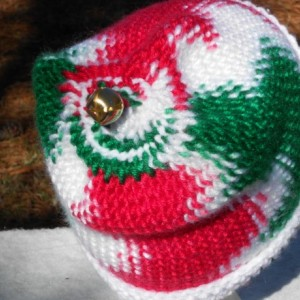 """A Christmas Hat with a jingle bell on top,""""Jingle Hat"""", A red, green and white hat with a jingle bell on top,"""" Jingle Hat"""""""
