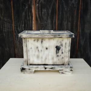 Handmade,Primitive,Distressed,Human Cremation Urn