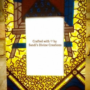 African Fabric Wrapped Picture Frame, Dashiki Fabric Picture Frame, Ankara Print Photo Frame, Ankara Decor, Fabric Photo Frames & Displays