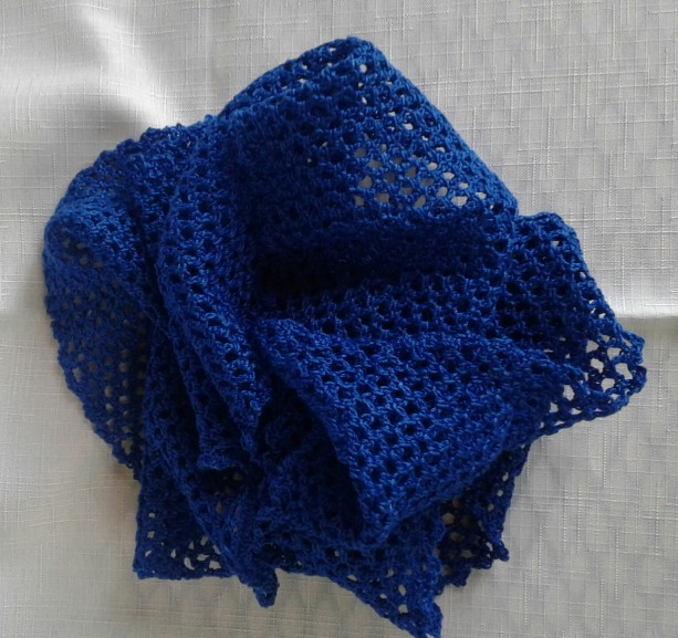 Texas Bluebonnet Lacey Infinity Scarf