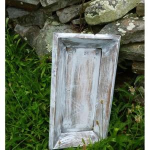 Wooden Tray, Wood Box,Cottage Chic Decor, Shabby Wedding Decor, Candle Holder, White Washed , Living Room Decor, Shelf Decor Farmhouse Style