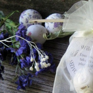 Seed Bomb Wedding Favors 50 Organza Bag favors Garden Reception Party Gift