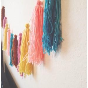 Yarn tassel garland