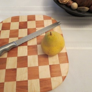 American Cherry and Hard Maple Cutting Board