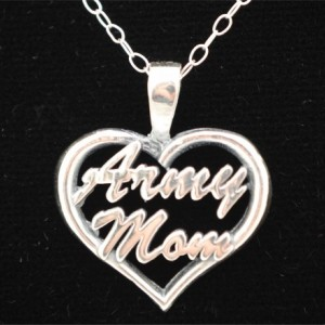 Army Mom Heart Pendant