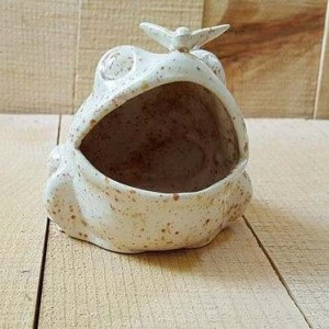 Small Ceramic Frog Kitchen Scrubby/ Sponge Holder