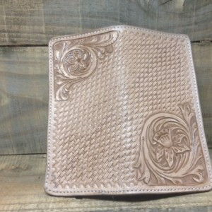 western Basketstamped long wallet