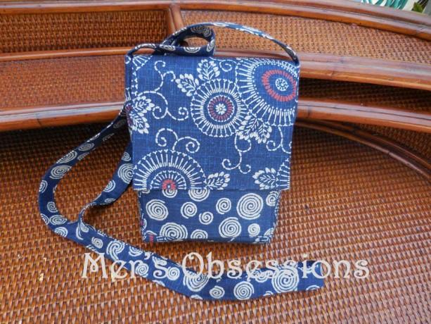 35b532d4df Mini Messenger Cross Body Bag made with Japanese fabric